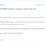 DigitalOcean droplets used to ssh force entry