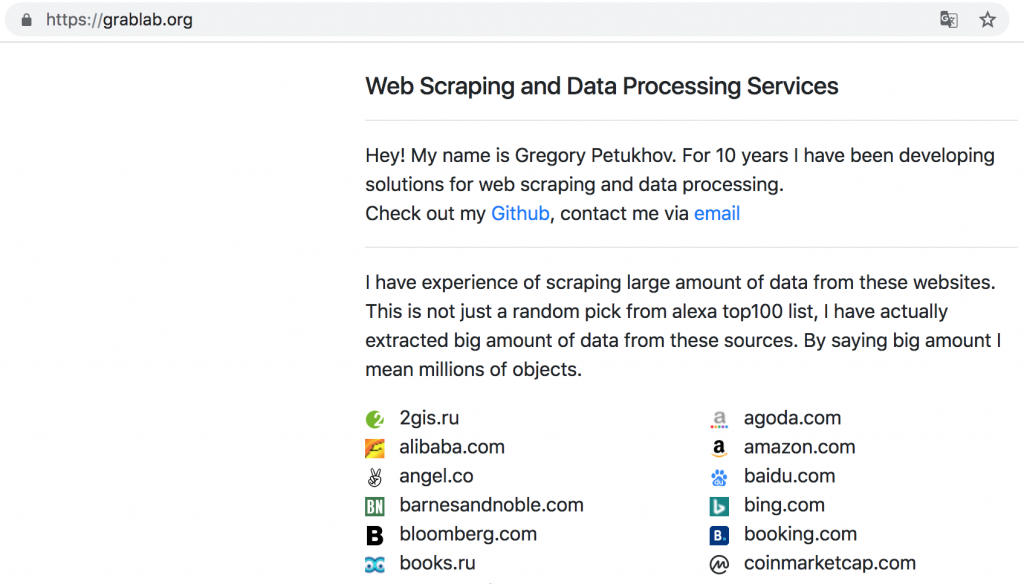 grablab org – Web Scraping and Data Processing Services